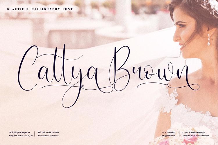 Cattya Brown Font