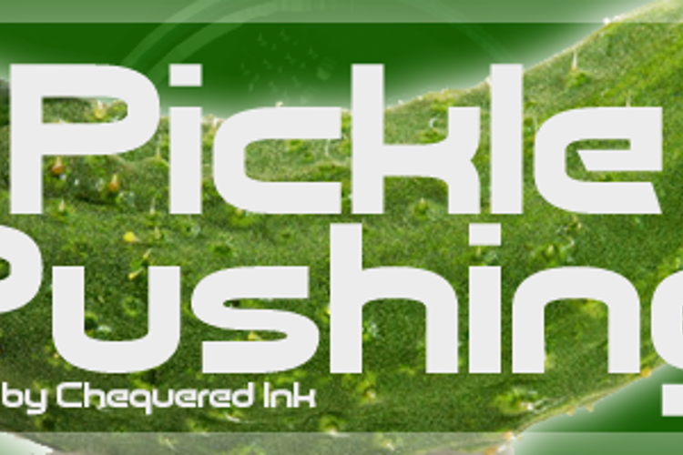 Pickle Pushing Font