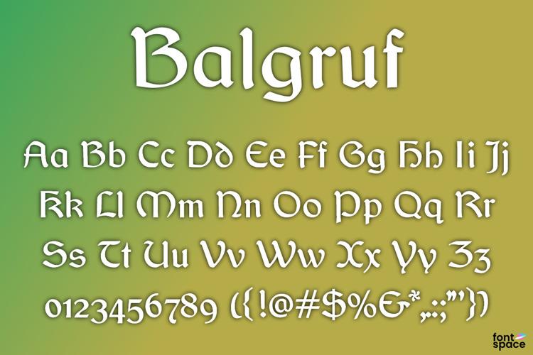 Balgruf Font