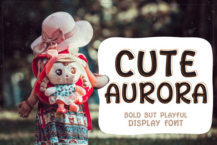 Cute Aurora Display Font