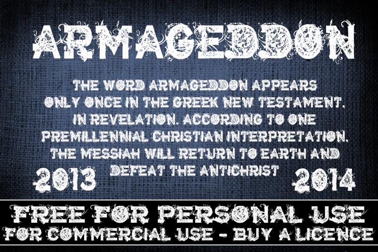 CF Armageddon Font