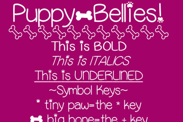 Puppy Bellies Font