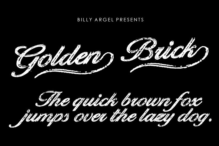 Golden Brick Font