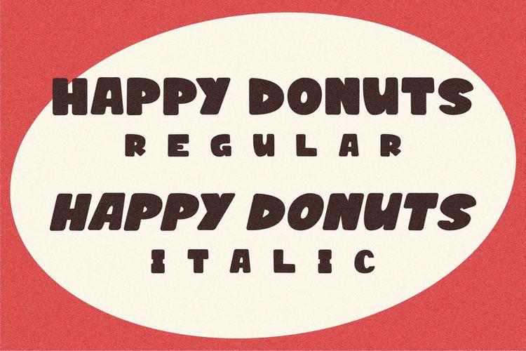 HAPPY DONUTS Font