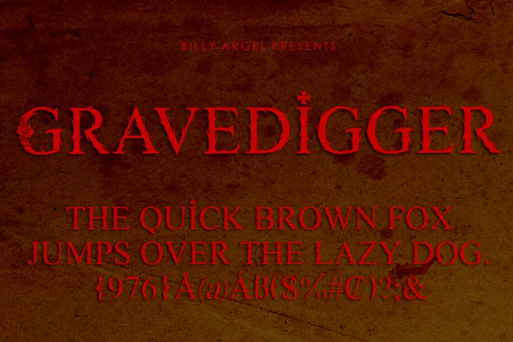 GRAVEDIGGER Font