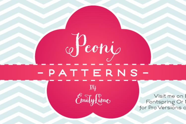 Peoni Patterns Font