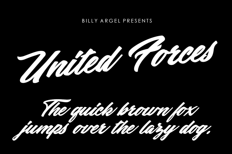 United Forces Font