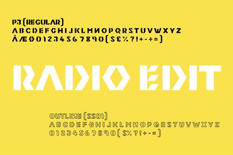 Radio Edit Font