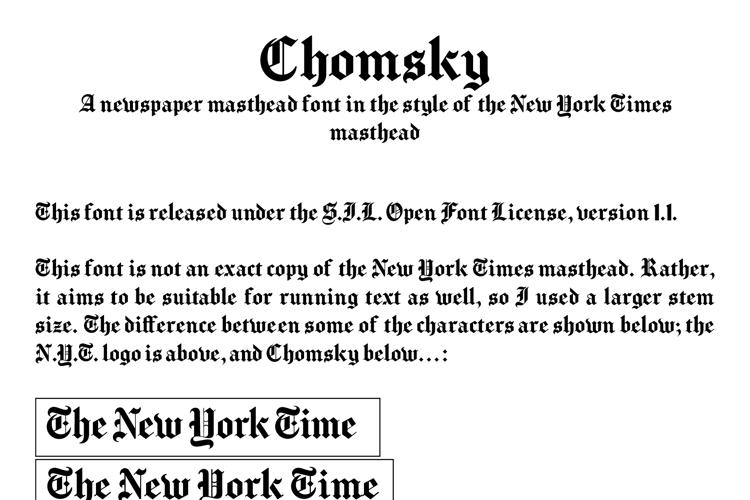 Chomsky Font