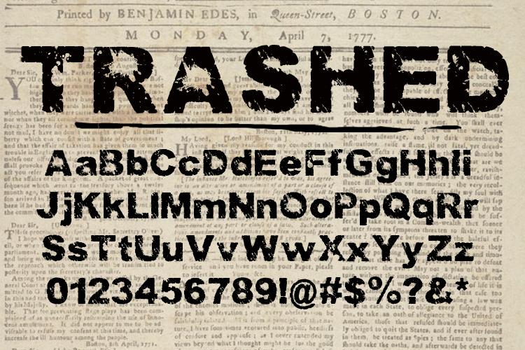 Trashed light Font