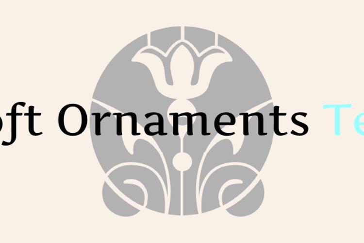 Soft Ornaments Ten Font