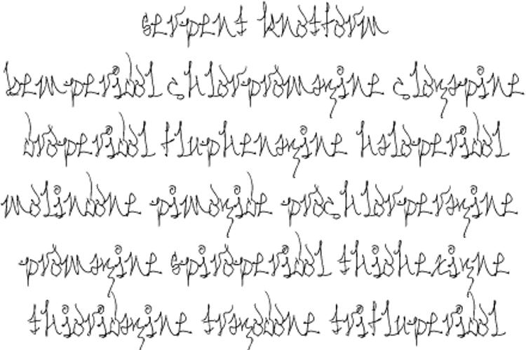 Serpent Knotform Font