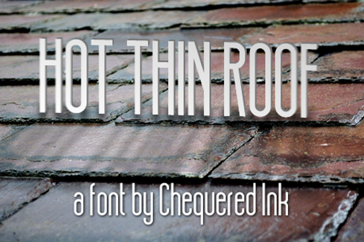 Hot Thin Roof Font