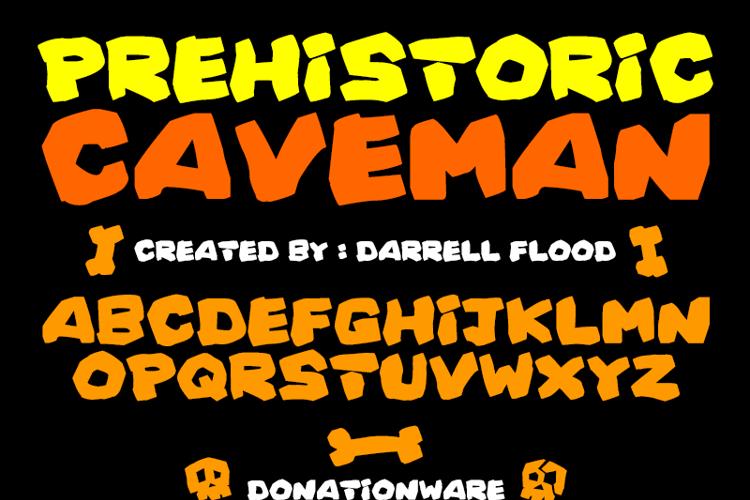 Prehistoric Caveman Font