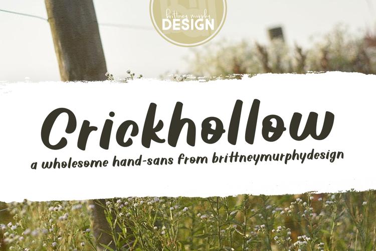 Crickhollow Font