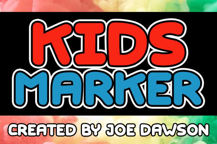 Kids Marker Font
