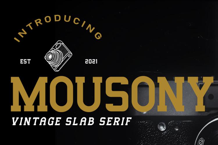 Mousony Font