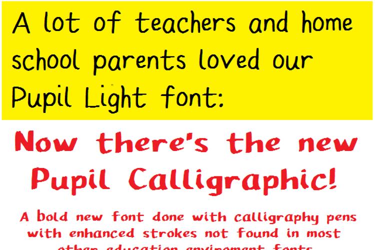 Pupil Caligraphic Font