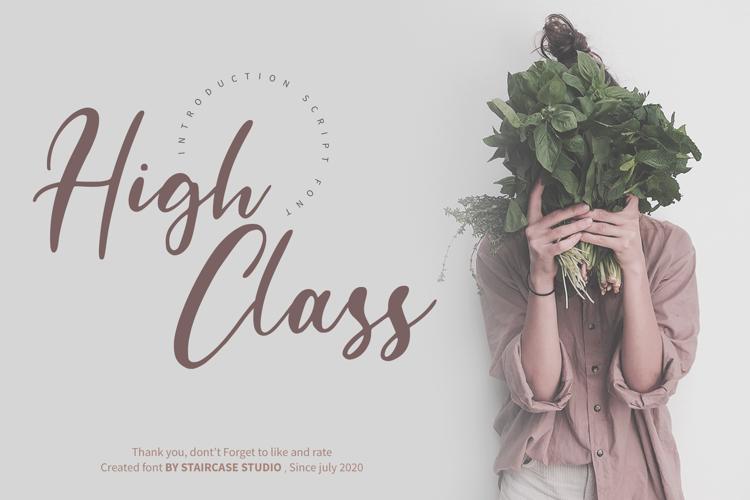 High Class Font