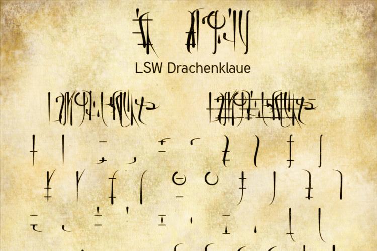 LSW Drachenklaue Font