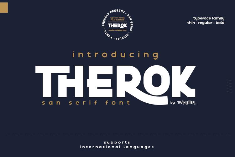 Therok Reg Personal Font