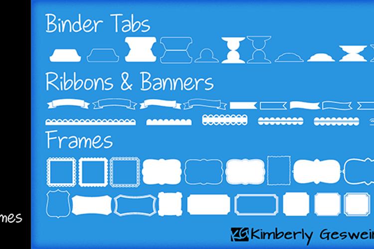 KG Flavor and Frames Five Font