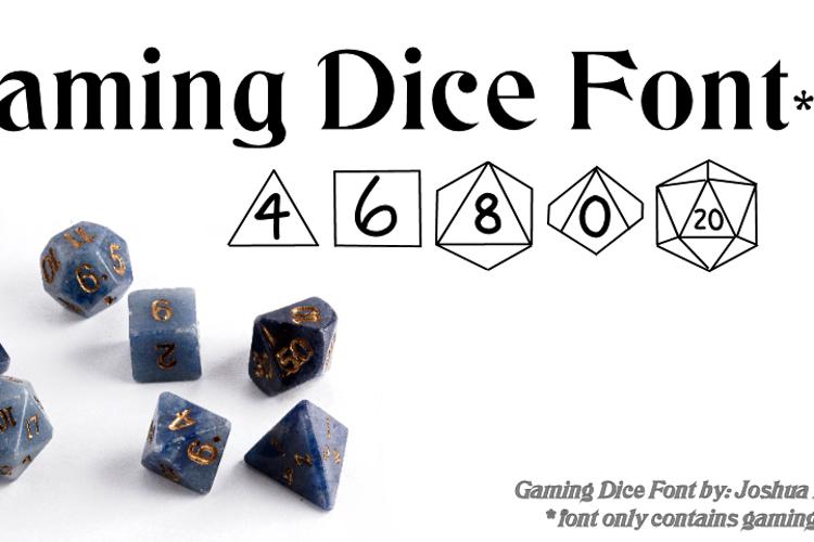 GamingDice Font