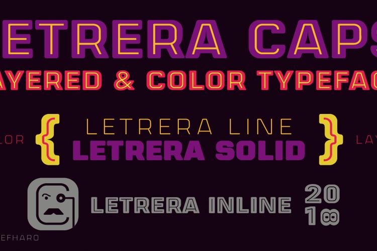 Letrera Caps Inline Font