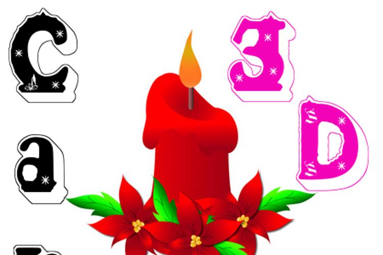 Candle3d Font