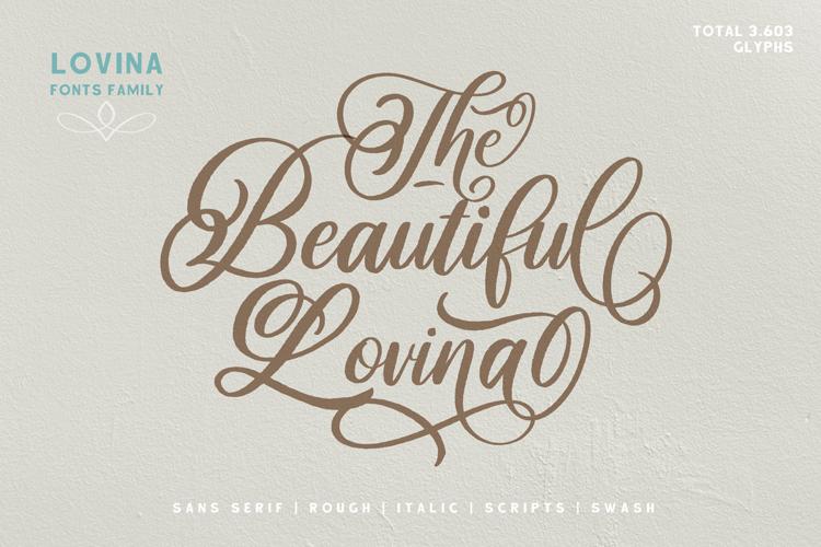 Beautiful Lovina Font