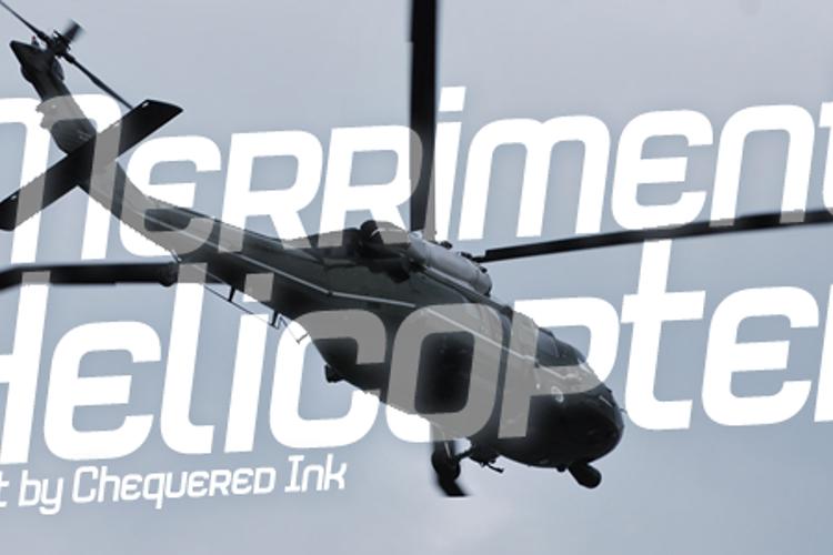 Merriment Helicopter Font