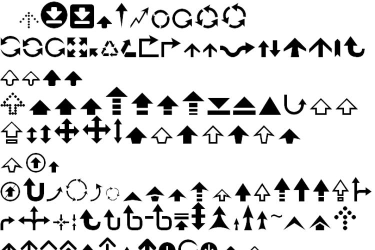 Arrow 7 Font