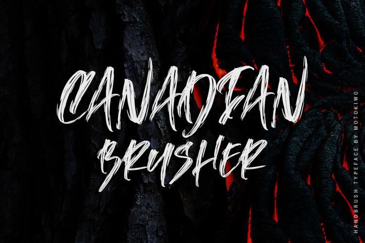 Canadian Brusher Font