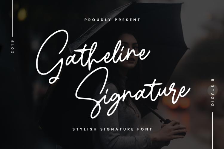 Gatheline Signature Font