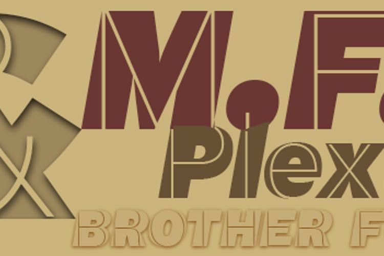 M.F. Plexus Italic Font