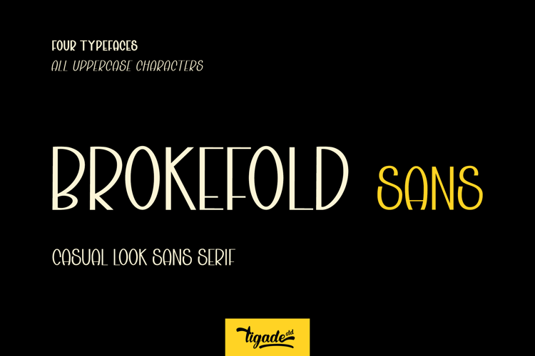 Brokefold Sans Font