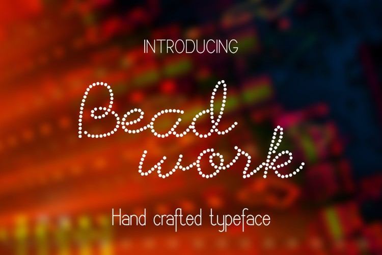 Beadwork Font