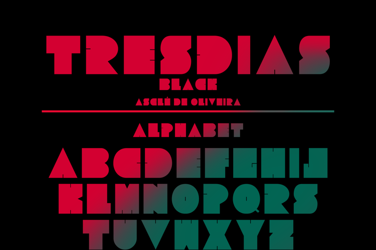 Tresdias Black Font