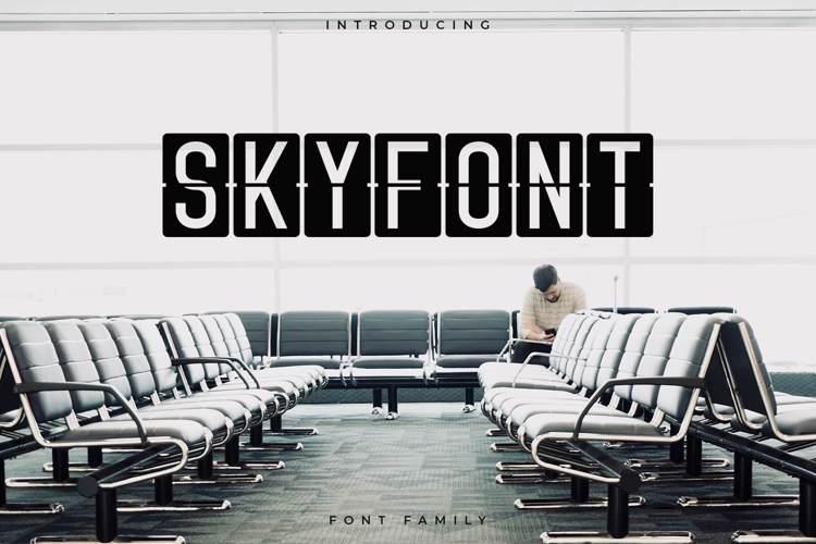 Skyfont Font