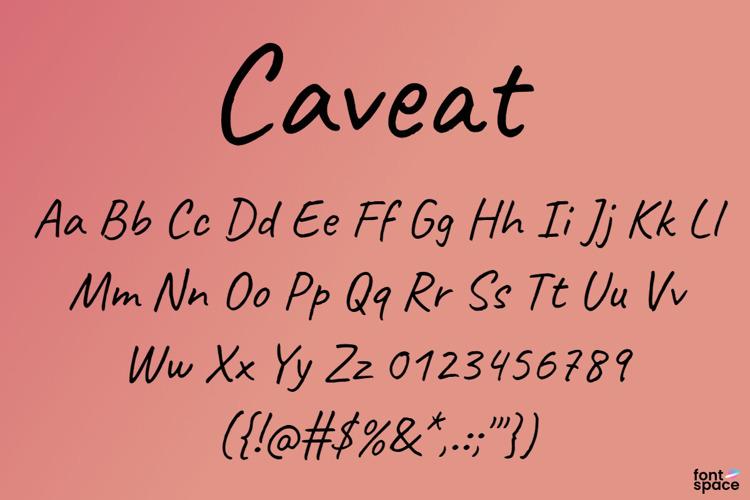 Caveat Font