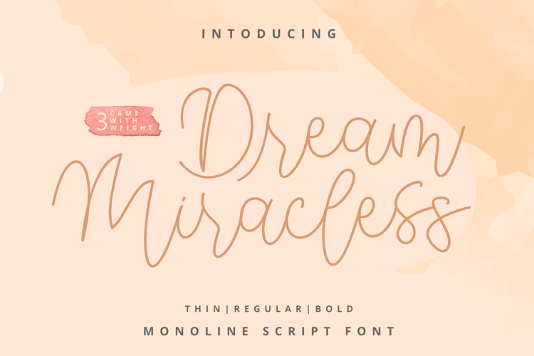 Dream Miracless Regular Font