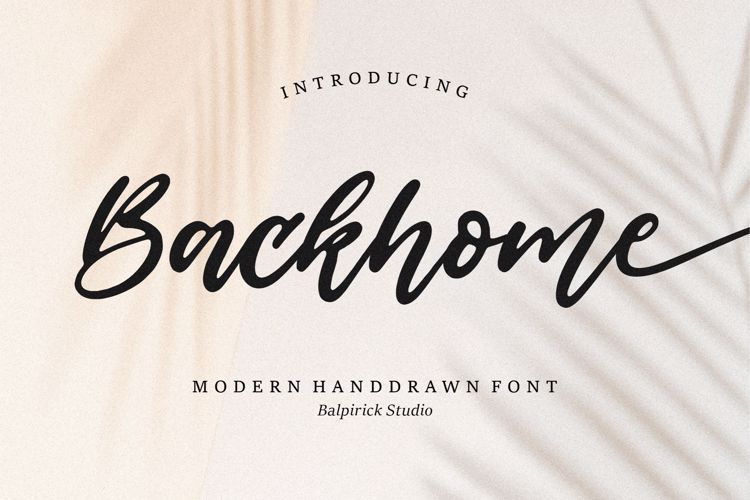 Backhome Font