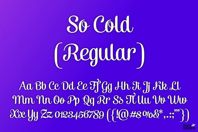 So Cold Font