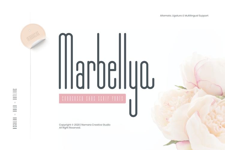 Marbellya Condensed Sans Serif Font