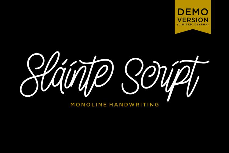 Slainte Script Demo Font