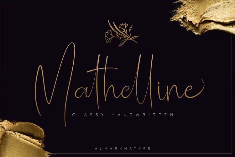 Mathelline Font