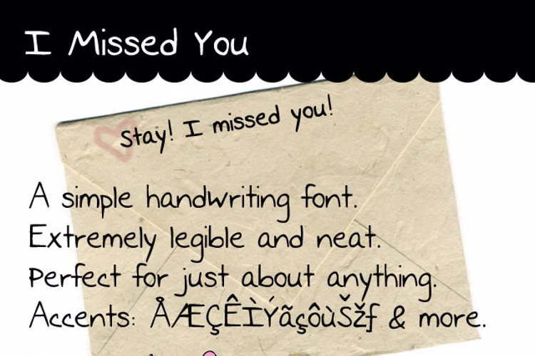 I Missed You Font