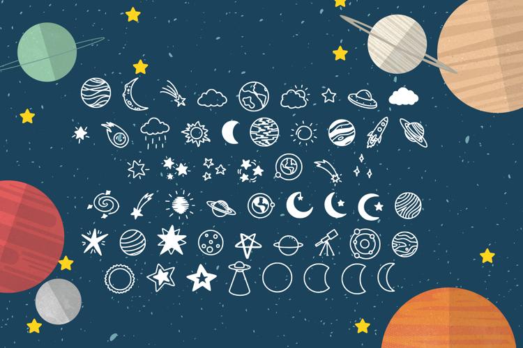 Spaceally Illustration Font