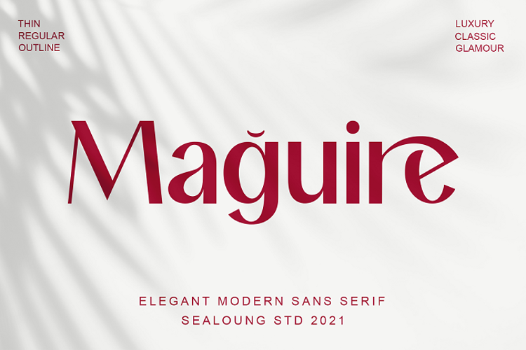 Maguire Thin Font