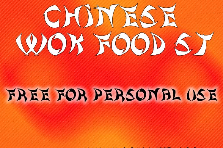 Chinese Wok Food St Font